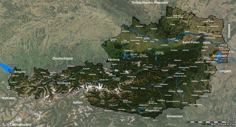 рельеф Австрии