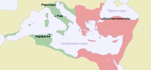 Византия к 550 году